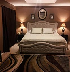 Furniture 1566bqrt Trieste Bed Set With Rails Queen