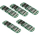 Icstation 11.1V 12.6V 20A 3S Lithium Battery Protection PCB BMS Board for 18650 18550 Li-ion Lipo Battery Cell Pack (Pack of 5)