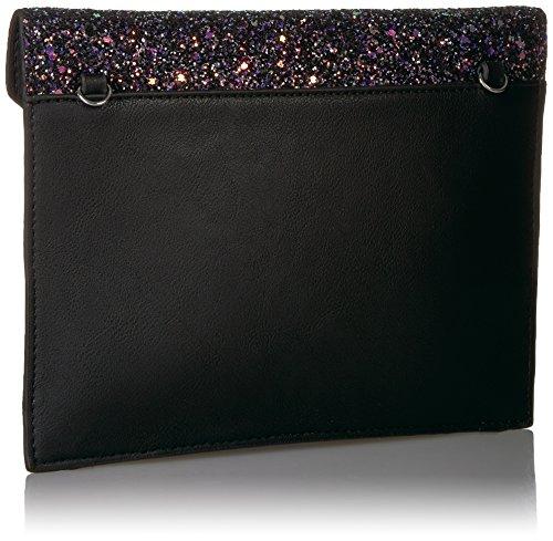 with The Chain Envelope Clutch Glitter Izzi Black Strap Crossbody Fix Midnight nWTnXP