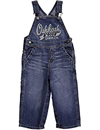 OshKosh B'gosh Little Boys' Denim Logo Overalls (Toddler)