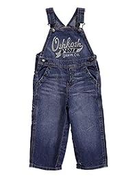 OshKosh B'gosh Baby Boys' Logo Denim Overalls (Baby) - Blue - 3 Months