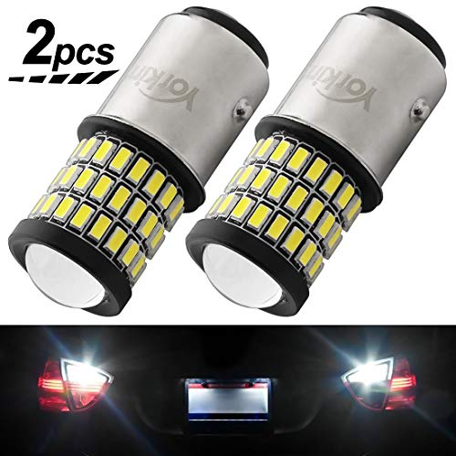 Yorkim 1157 LED Bulb, Super Bright 1157 led, 1157 2057 2357 7528 BAY15D LED Bulbs with Projector Replacement for Back Up Reverse Lights or Tail Lights - White