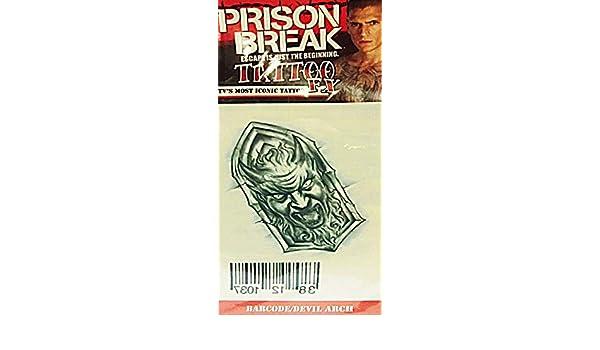 Prison Break tatuaje de código de barras Devil Arch: Amazon.es ...