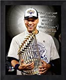 Derek Jeter New York Yankees ProQuotes Photo (Size: 9'' x 11'') Framed