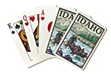 White Water Rafting - Idaho (Playing Card Deck - 52 Card Poker Size with Jokers)