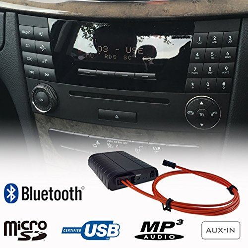 Mercedes Benz Bluetooth Handsfree A2DP USB SD AUX MP3 WMA Player Fiber Optic Adapter Interface Car Kit A B C E Class Audio 20 50 ()