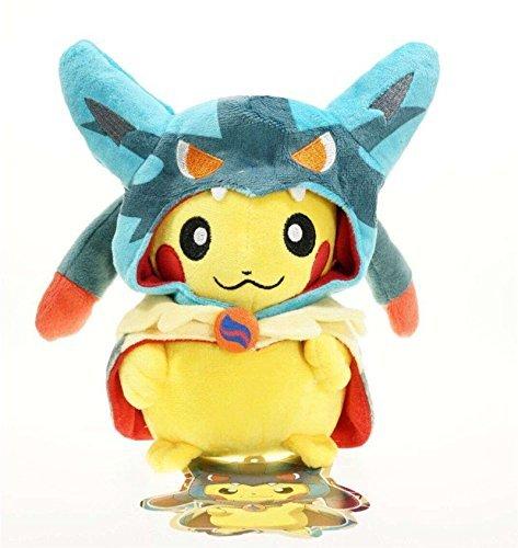 20cm-8-Pokemon-Pikachu-Mega-Lucario-Smiling-Plush-Toy-Stuffed-Doll-Figure-by-Cutepower