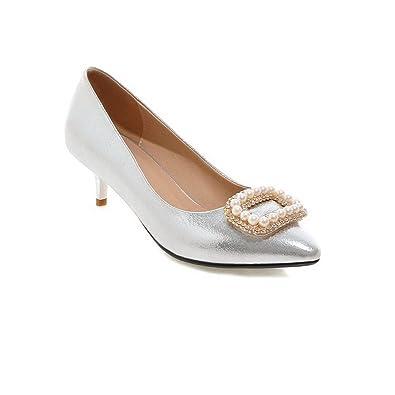 balamasa Damen-low-heels Massive Patent Leder pumps-shoes