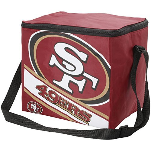 Forever Collectibles NFL Unisex Big Logo Rayas 12Pack Cooler, San Francisco 49Ers, Una Talla