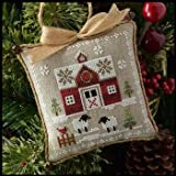 Farmhouse Christmas Little Red Barn Cross Stitch