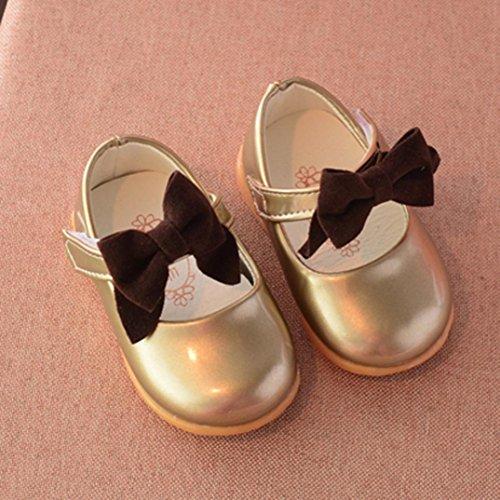 Leder Sneaker Mädchen Baby Gold Clode® Schuhe Kind Prinzessin Bowknot Beiläufige Einzelne 6WOfPcgf