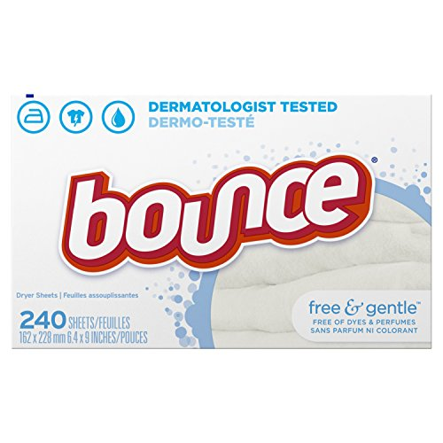 - Bounce Fabric Softener and Dryer Sheets, Free & Gentle, 240 Count