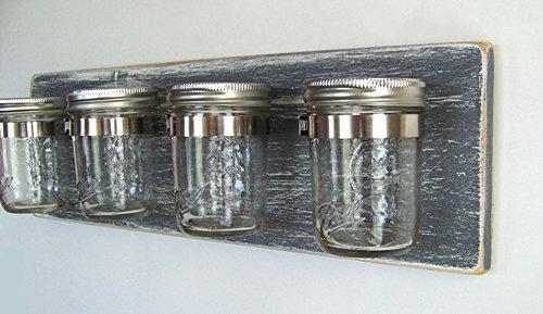 Bathroom Storage By Out Back Craft Shack Rustic Decor Mason Jar Toothbrush Holder