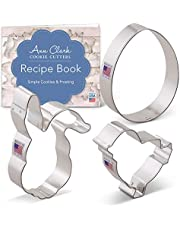 Ann Clark Cookie Cutters Easter Cookie Cutter Set - 3 Piece - Egg, Easter Bunny Face and Chick - USA Made Steel