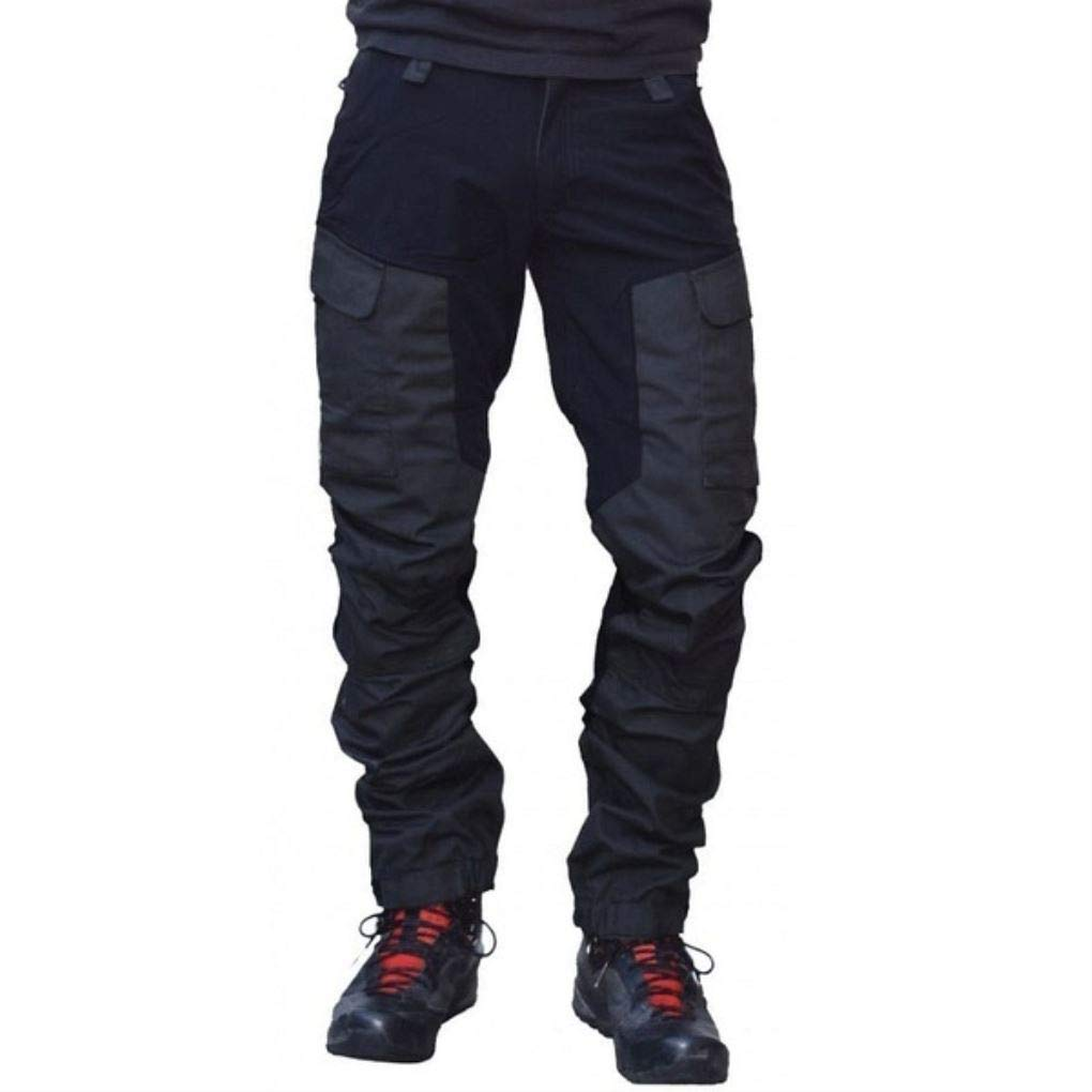 k389diir3xoxo Mens Waterproof and Quick-Drying Casual Pants Military Tactical Cargo Overalls