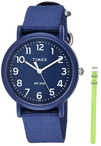 Timex Unisex TWG018400 Weekender Color Rush Navy/Green Box ()
