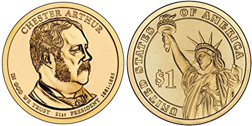2012 D 25 Coin Bankroll of Chester A. Arthur Presidential Uncirculated
