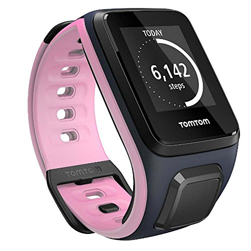 TomTom Spark, GPS Fitness Watch (Small, Sky Captain/Pink) TomTom