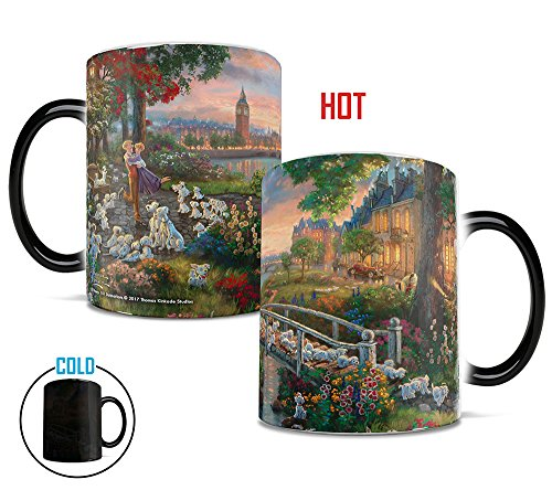 Morphing Mugs Thomas Kinkade Disney 101 Dalmatians Painting Heat Reveal Ceramic Coffee Mug - 11 Ounces