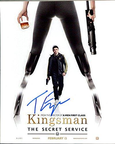 Taron Egerton (Kingsman: The Secret Service) signed 8x10 photo