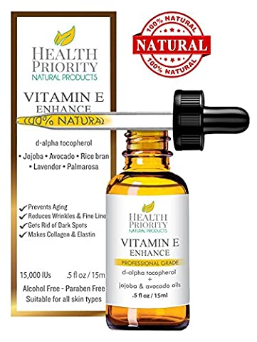 100% All Natural & Organic Vitamin E Oil For Your Face & Skin - 15000 IU - Reduces Wrinkles, Lightens Dark Spots, Heals Stretch Marks & Surgical Scars. Best Treatment for Hair, Nails, Lips, After (Cheap Special Effects Makeup)