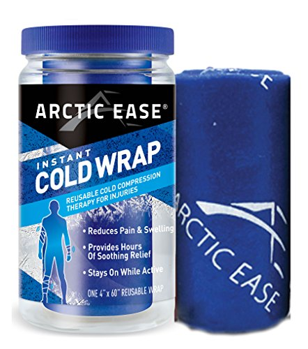 """Arctic Ease Reusable Instant Cold Wrap, Large Size, Measures 4"""" X 60"""", Sized for Large Joints/Muscles Including Hamstring, quads, Thigh, Shoulders, Knees and Hips, Blue by Arctic Ease (Image #2)"""