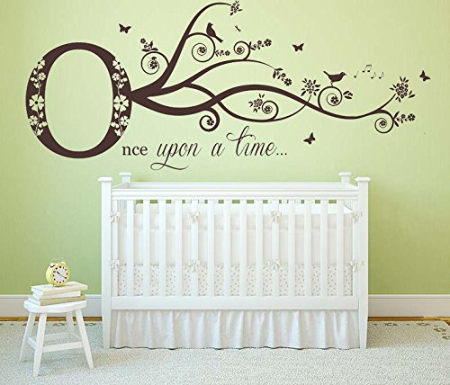 Amazon.com: Once upon a time Quote, Vinyl Wall Art Sticker ...