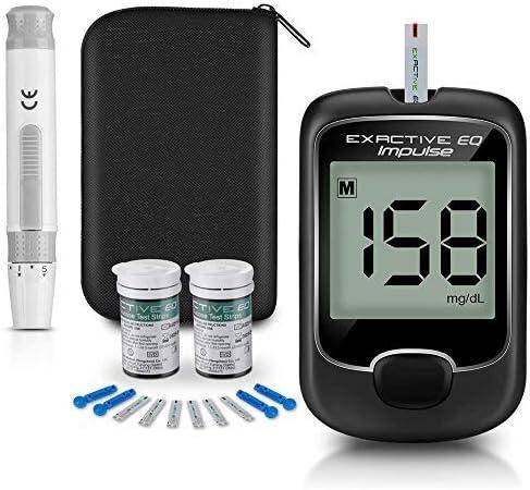 MAOGE 血糖測定器 血糖モニター 血糖値測定器 血糖値検査 刺具針セット 収納ケース 50xテスト紙 50x採血針 (EQ1)