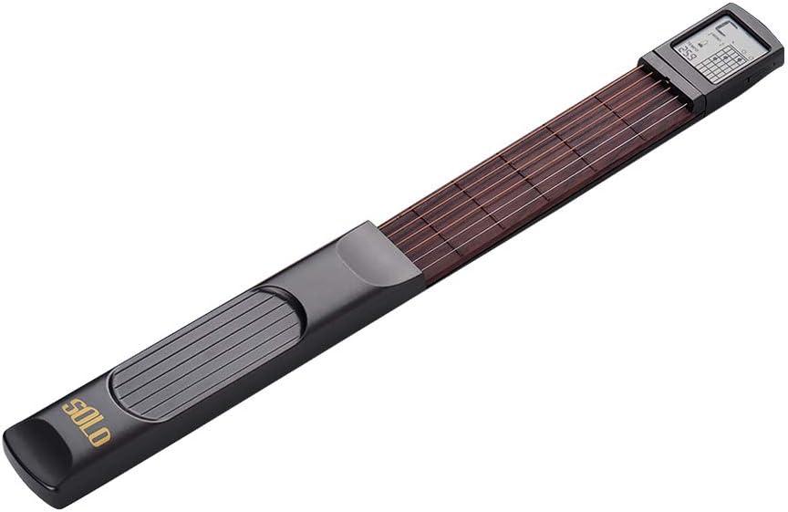 Muslady Guitarra de Bolsillo de 6 Cuerdas Practica de Guitarra para Principiantes