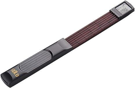 Muslady Guitarra de Bolsillo de 6 Cuerdas Practica de Guitarra ...