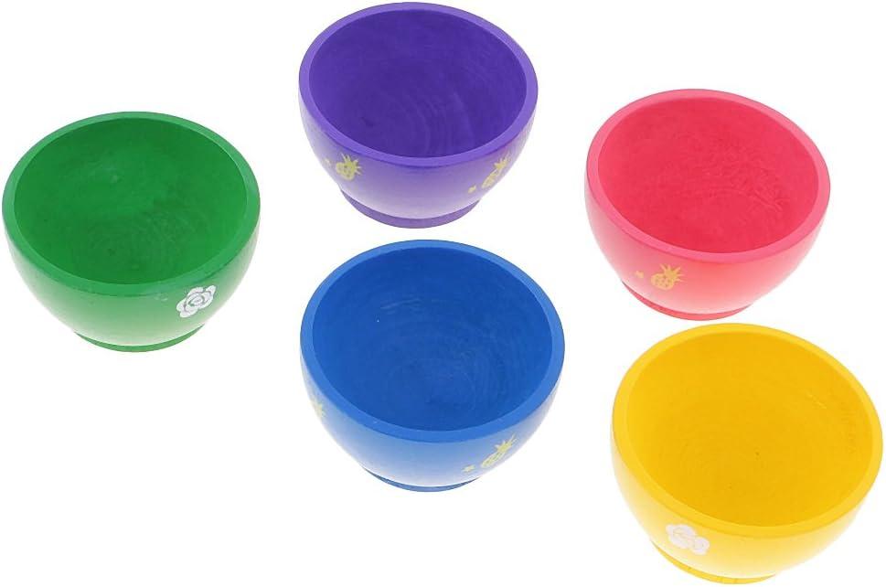 Sharplace Kit de 5pcs Mini Bol en Bois Color/é Jeux Educatifs Cadeau F/ête No/ël pour B/éb/é Enfant
