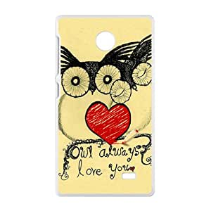 Lovely owls unique durable fashion Cell Phone Case for Nokia Lumia X