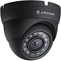 Amcrest ProHD Outdoor 1080P POE Dome IP Security Camera - IP67 Weatherproof, 1080P (1920 TVL), IP2M-844E (Black) (Certified Refurbished)