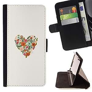 Momo Phone Case / Flip Funda de Cuero Case Cover - Forma floral de la primavera Flores Bloom - Samsung Galaxy J1 J100