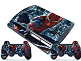 New Custom Skins Sticker Set for PS3 Playstation 3 Fat Console Controller Spiderman