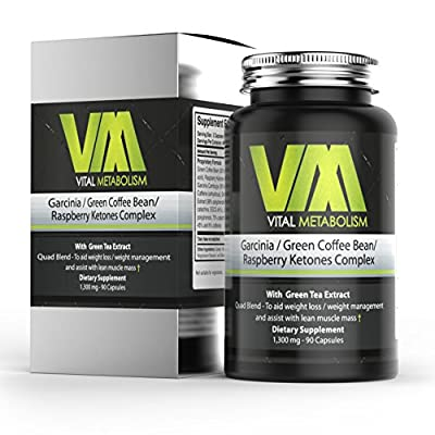 Pure Garcinia Cambogia, Green Coffee Bean Extract, Raspberry Ketones, plus Green Tea Supplement. Premium blend for Weight Loss.Fat burner. Aids lean Muscle & boosts energy. 4 fat burning ingredients