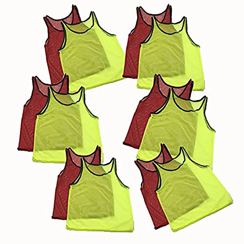 3dbbdcf23 Adorox Youth Scrimmage Team Practice Nylon Mesh Jerseys Vests Pinnies for  Children Sports Football