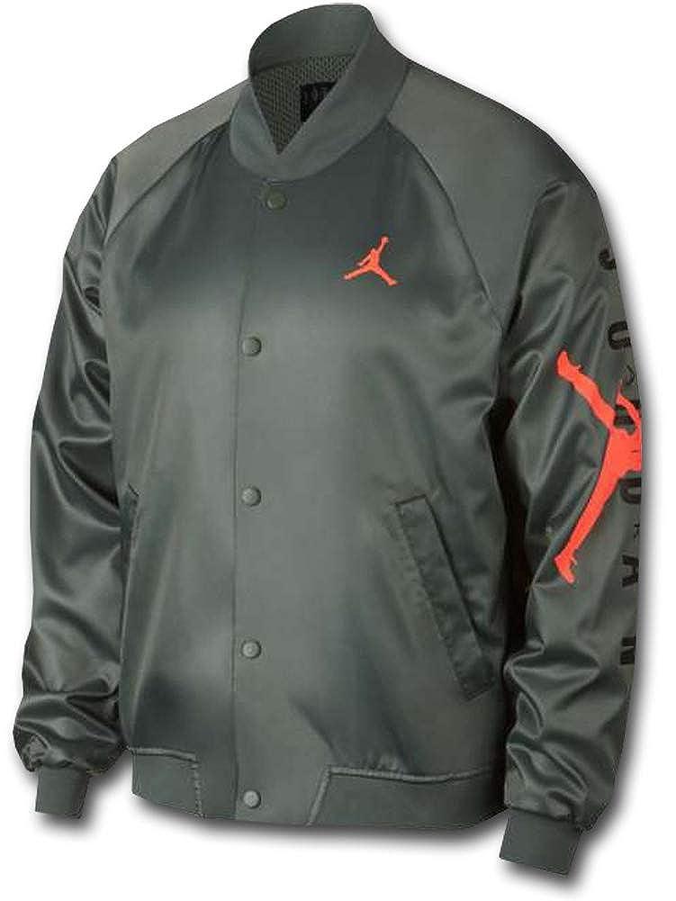 (Jordan)ジョーダン Jordan Jumpman Air Stadium Jacket ボンバージャケット [並行輸入品] B07R4VP68Z アーミーグリーンオレンジ L