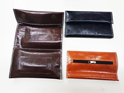 takestop® Tabakbeutel Tabaktasche Pouch Zigarettenpapier Filter Filter in ECO LEDER HANDY TASCHE Nähte Farbe zufällig 8afN1