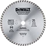 7 inch diamond wet saw blade - DEWALT DW4712 High Performance 7-Inch Dry/Wet Cutting Continuous Rim Diamond Saw Blade for Block and Brick