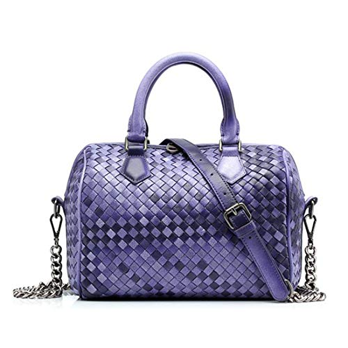 De Purple Oveja Bolso Casual Honneury Diagonal Cuero Femenino Mano Rosa Piel Tejido Artificial 7OZnqn6t
