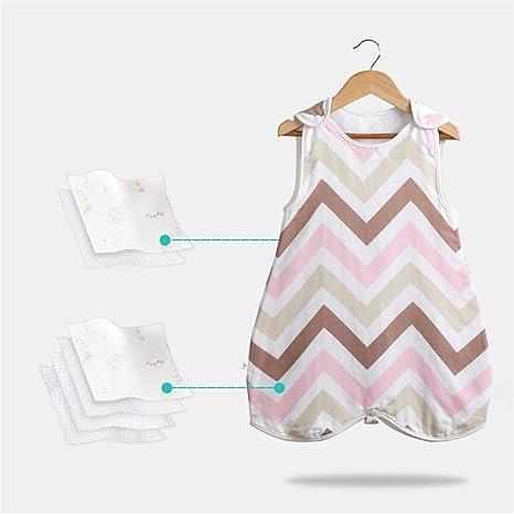 Sacos de dormir para bebé Sin mangas Verano Delgado sección Recién nacidos Algodón suave respirable Vest