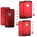 iphone 4 housing case - Colorful Hard Metal Back Battery Door Housing Cover Case + Iogo For Iphone 6 Plus 5.5