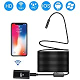 Endoscope Borescope Inspection Camera, Prostormer HD 720P Wireless WiFi Endoscope in Soft Cable with 8pcs Adjustable LEDs for Android, IOS and Windows System, iPhone, Samsung, Macbook, Tablet (33FT)