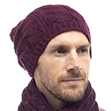 Tom Franks Cable Knit Slouch Beanie / Winter Hat One Size