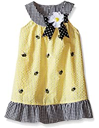 Girls' Yellow Seersucker Dress