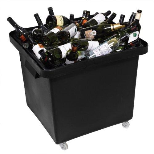 Material reciclado con forma de botella Skip 185ltr negro   De ...