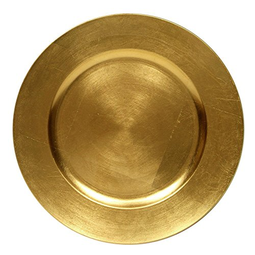 Round Charger Dinner Plates, Gold 13 inch, Set of 1,2,4,6, or 12 -
