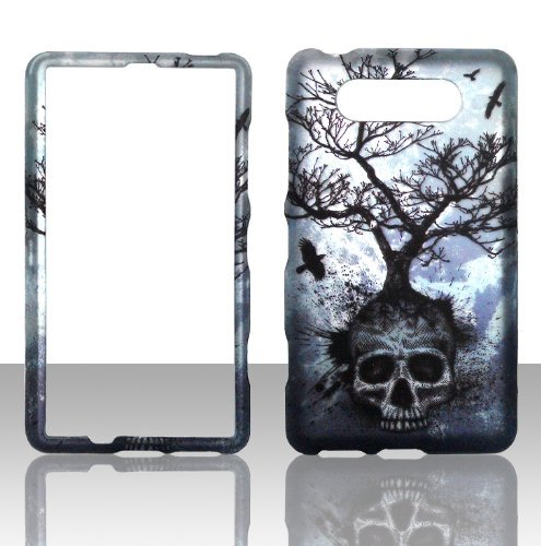 2D Tree Skull Nokia Lumia 820 AT&T Case Cover Hard Phone Case Snap-on Cover Rubberized Touch Protector Faceplates