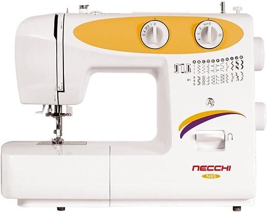 Necchi N85 Eléctrico - Máquina de coser (Blanco, Amarillo, Costura ...